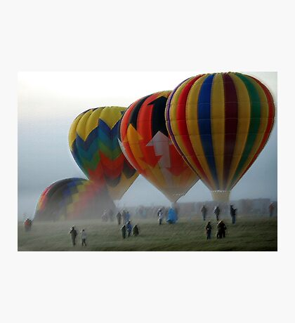 Balloons in the Mist  Photographic Print