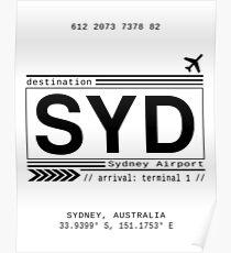 Sydney Flughafen Poster
