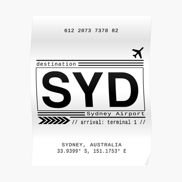 Sydney Airport Poster
