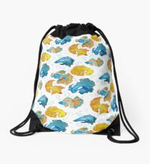 Beta Fish Drawstring Bag