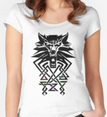 The Witcher - Big Witcher Medallion Women's Fitted Scoop T-Shirt