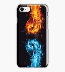 Fire water fist iPhone Case/Skin