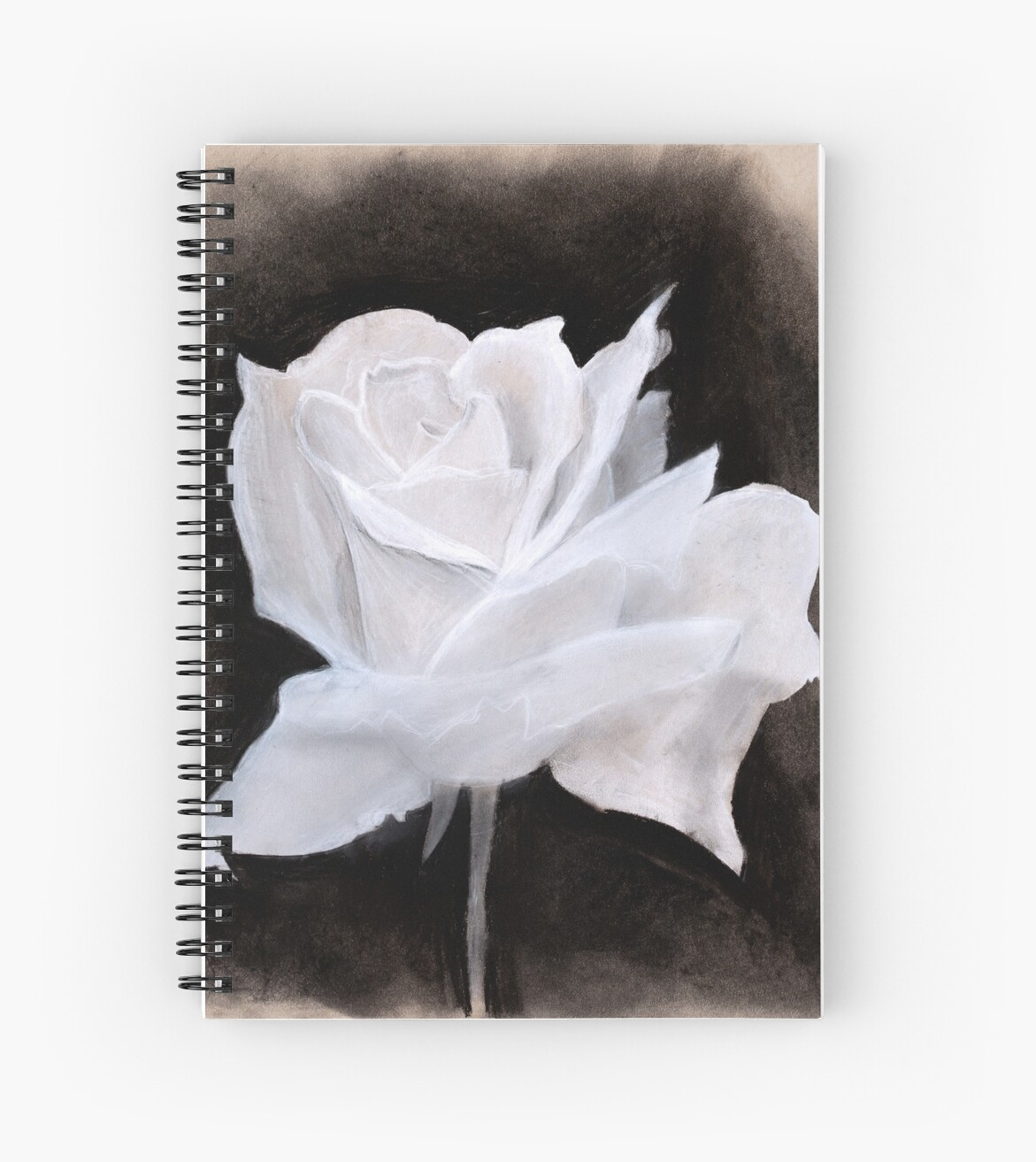 It is a graphic of Dynamic Charcoal Rose Drawing