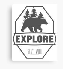 Explore Bear | Stay Wild Canvas Print