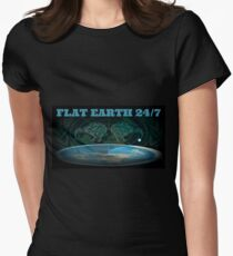 24/7 FLAT EARTH Women's Fitted T-Shirt
