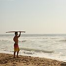 Early morning surfer by Antionette