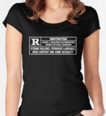 Bewertet R Tailliertes Rundhals-Shirt