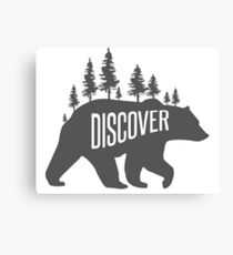 Discover Bear with Trees Canvas Print