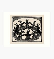 Witches Circle Dance Art Print