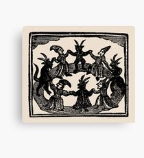Witches Circle Dance Canvas Print