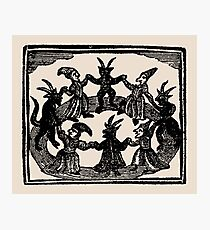 Witches Circle Dance Photographic Print