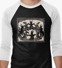 Camiseta ¾ estilo béisbol Brujas danza en círculo