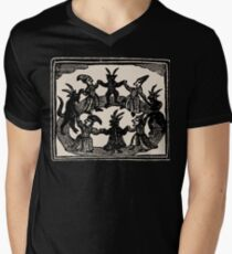 Witches Circle Dance T-Shirt mit V-Ausschnitt