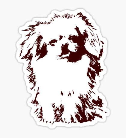 Pekingese VRS2 Sticker