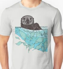 Sea Otter Sketch Color T-Shirt