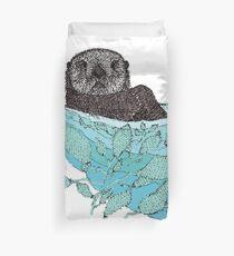 Sea Otter Sketch Color Duvet Cover