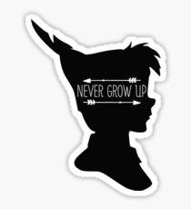 Never Grow Up  Sticker