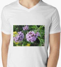 Macro on purple flowers in the garden. T-Shirt