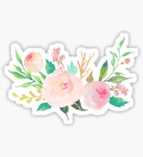 Pastel Watercolor Flower Bouquet Sticker