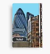 City toilet Canvas Print