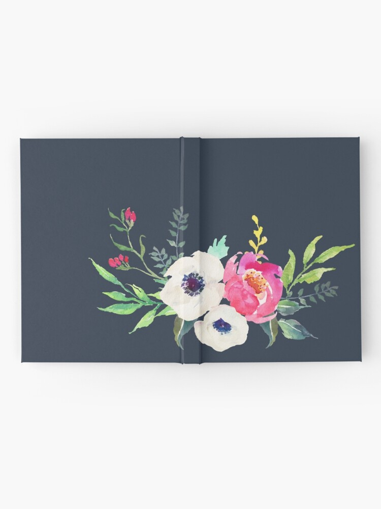Alternate view of Anemone Peony Watercolor Bouquet Hardcover Journal