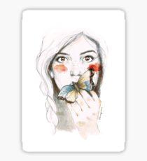 BUTTERFLIES STOMACH Glossy Sticker