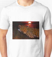 Leopard with Sunset Unisex T-Shirt