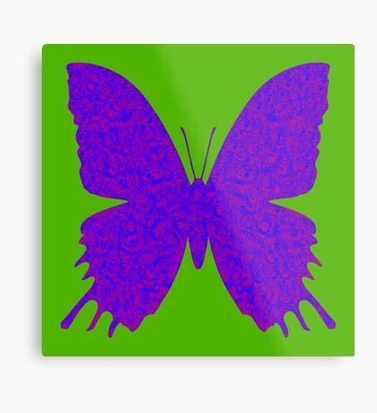 #DeepDream Purple Violet Butterfly Metal Print