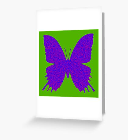 #DeepDream Purple Violet Butterfly Greeting Card