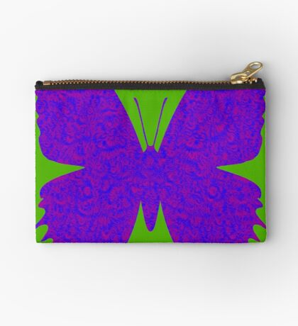 #DeepDream Purple Violet Butterfly Zipper Pouch
