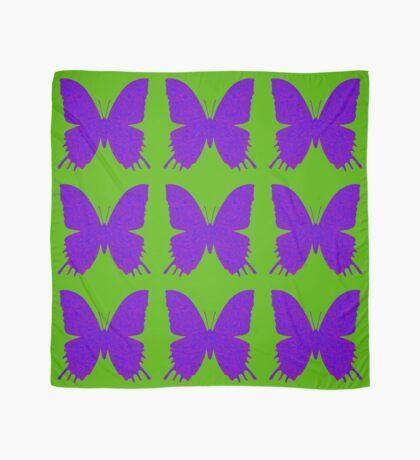 #DeepDream Purple Violet Butterfly Scarf