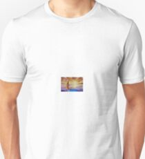 Boat at sunset - oil painting. Seascape. Unisex T-Shirt