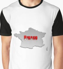 Map of France 2 Graphic T-Shirt
