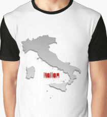 Map of Italy 4 Graphic T-Shirt