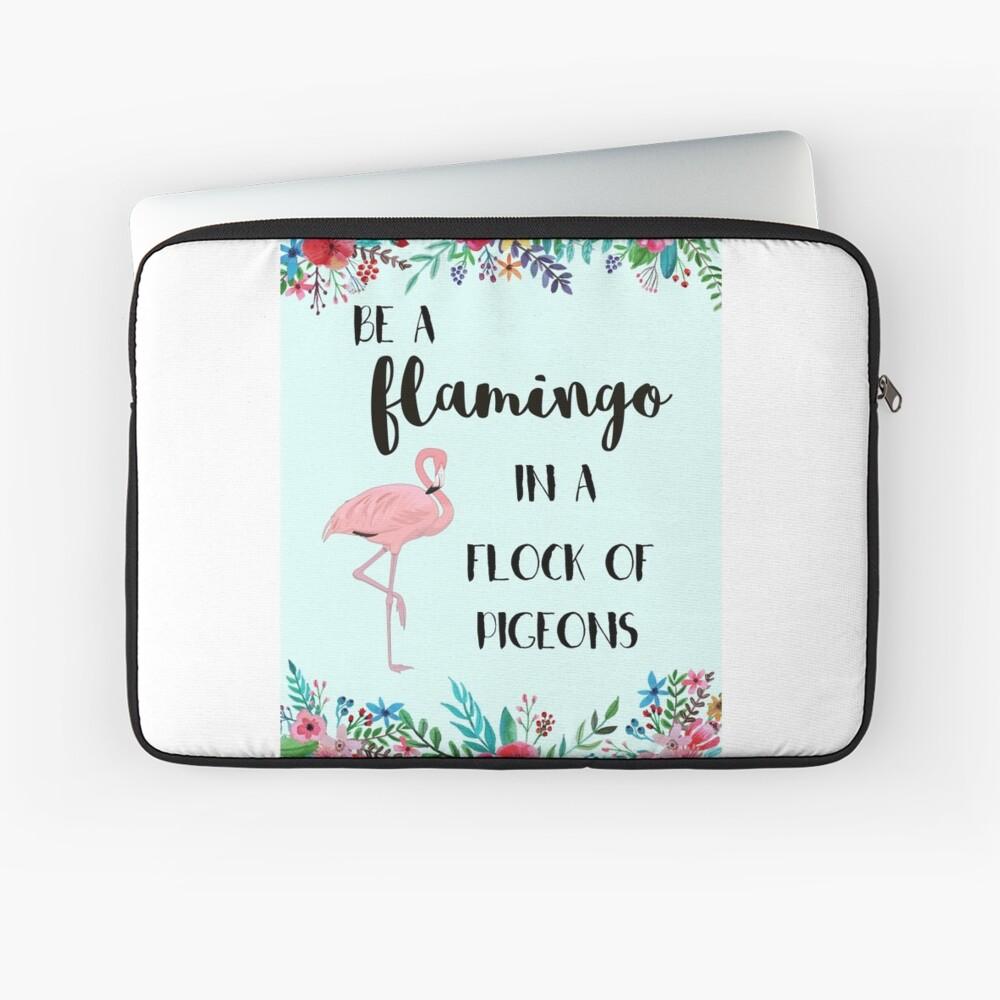 Sei ein Flamingo in einer Herde von Tauben Laptoptasche
