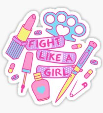 Girl Fighter Sticker