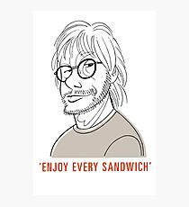 Lámina fotográfica Disfruta cada sandwich