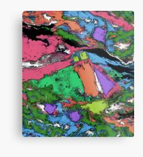 Mapping points Metal Print