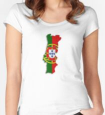 Map of Portugal 2 Women's Fitted Scoop T-Shirt