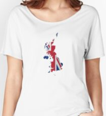 Map of the UK and Crown Dependencies Women's Relaxed Fit T-Shirt