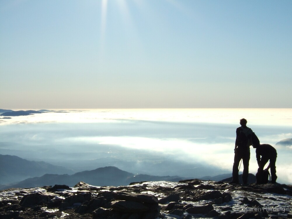 On the Sumit Snowdon Wales by Karen Harding
