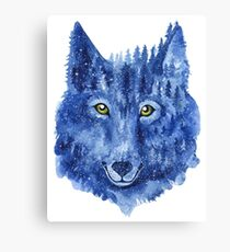Wolf. Forest animal. Watercolor Animal Wolf. Canvas Print
