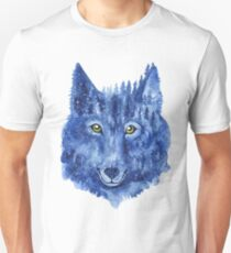 Wolf. Forest animal. Watercolor Animal Wolf. T-Shirt