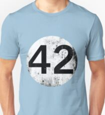 42 - Black Circle Unisex T-Shirt