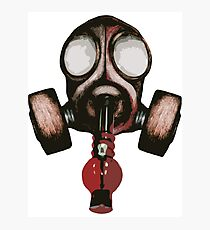 gas mask bong Photographic Print