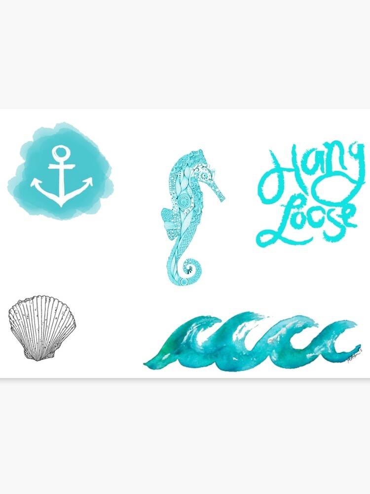 graphic relating to Tumblr Stickers Printable named Beachy Tumblr Stickers 2 Canvas Print