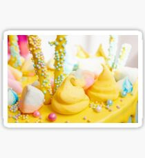 Beautiful bright colorful sweets for Birthday cake Sticker