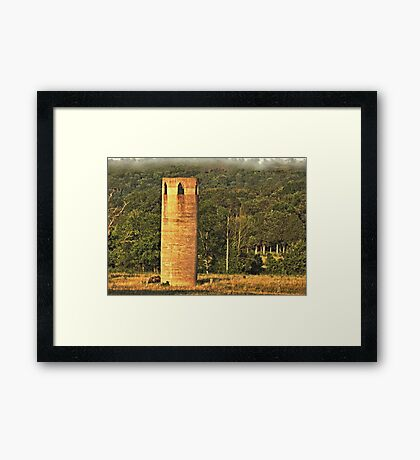 """""""An East Tennessee Farmer's Version of a European Castle""""... prints and products Framed Print"""