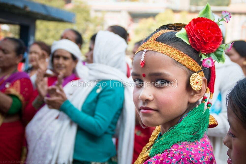 Young Nepali Girl during Tihar by Clara Go (missatgerebut)