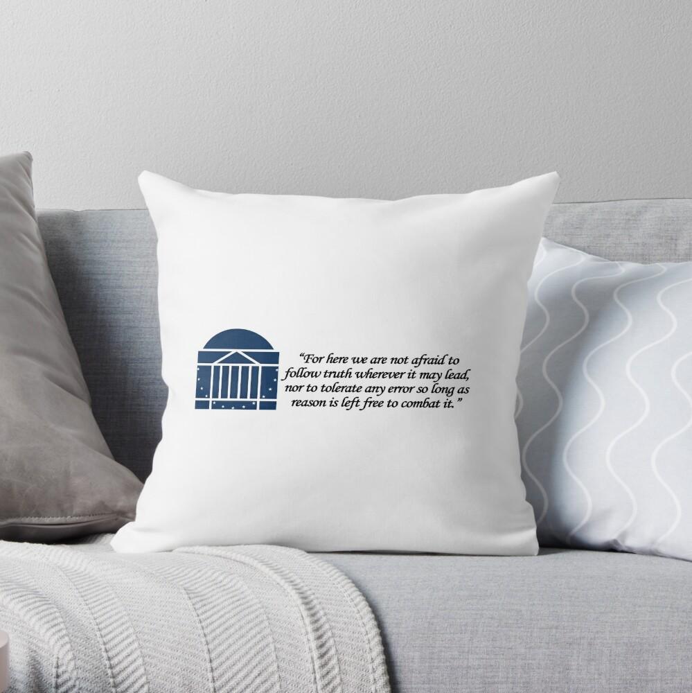 Thomas Jefferson UVA Throw Pillow